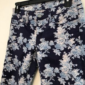 Gap jeans with rose print